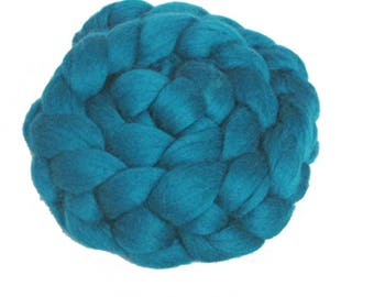 Choose Your Blue-Green: 100 gm Fine Merino Combed Top in Shades of Teal, Turquoise, Mint for Spinning, Felting