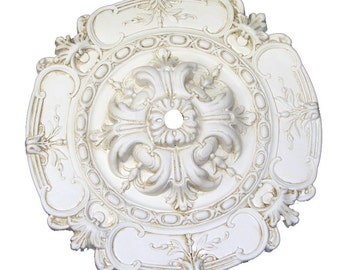 "18"" Diameter Sea Ceiling Medallion for Chandelier or Fan. Available in many Finishes or Custom Color."