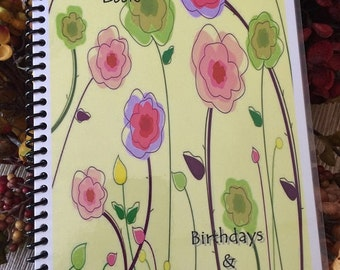 Address Book Birthday Anniversary Calendar Personalized Gift