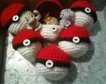 Crocheted Pokeball Surprise Stuffed Toy