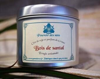 Sandalwood soy wax candle