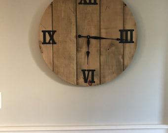 "28"" wood wall clock"