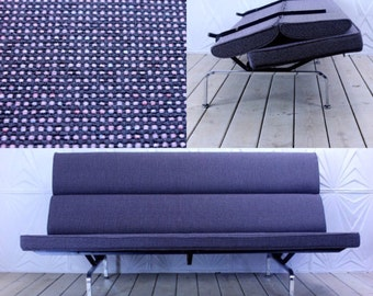 Vintage Herman Miller Eames Compact Sofa New Upholstery Alexander Girard Hopsack Fabric Mid Century Retro Modern Atomic
