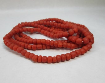 Red Glass Bead, Indonesian Ethnic Bead