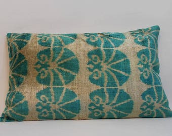 Ikat Pillow Case -  15'' x 24'' Decorative Pillows For Couch Sofa Pillows Lumbar Pillow Decorative Cushion Modern Pillow Cover