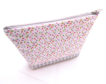 Clutch make-up grain of rice and houndstooth //cadeau woman pattern / / gift girl