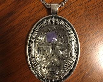 MountedSkulls Necklace Pendant Skulls Resin Flower