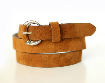 Free shipping! Leather belt, brown belt, woman belt, suede belt, dress belt, brown leather belt, waist belt, style belt, gift idea