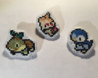 Cross Stitch Pokemon Starters (Gen 4)