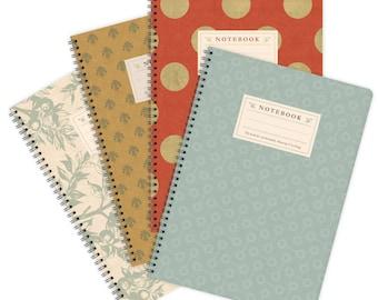Set of 4 Notebooks A4 – Patterns