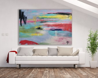 Original Colorful Abstract Painting / Abstract Art / XL Abstract Art / Colorful Art / Large Painting