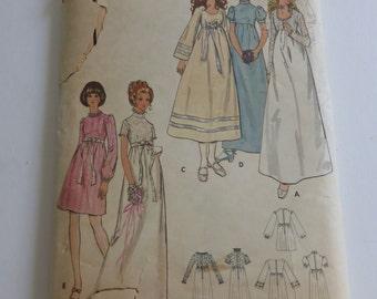 Vintag Butterick Pattern 6000 Misses Bridal Dress Size 12