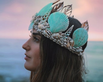 Aquamarine Mermaid Crown