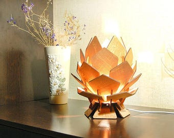 Flower Lamp Bedside Lamp Pinecone Lamp Desktop Lamp Bedroom Lamp Night  Light Wood Lamp Bedroom Lighting