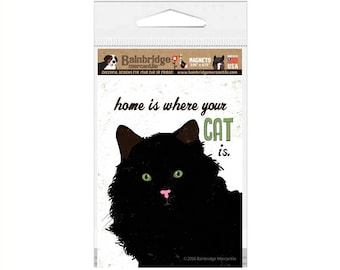 """Home is where your CAT is - Magnet 3.56"""" x 4.75"""""""