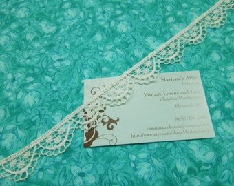 1 yard of 3/4 inch White Venise Lace Trim for wedding, bridal, scrapbooking, jewelry, housewares, couture by MarlenesAttic - Item ZZ4