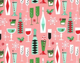 Holiday Party - From Michael Miller - Pink - 1 Yard - 9.95 Dollars