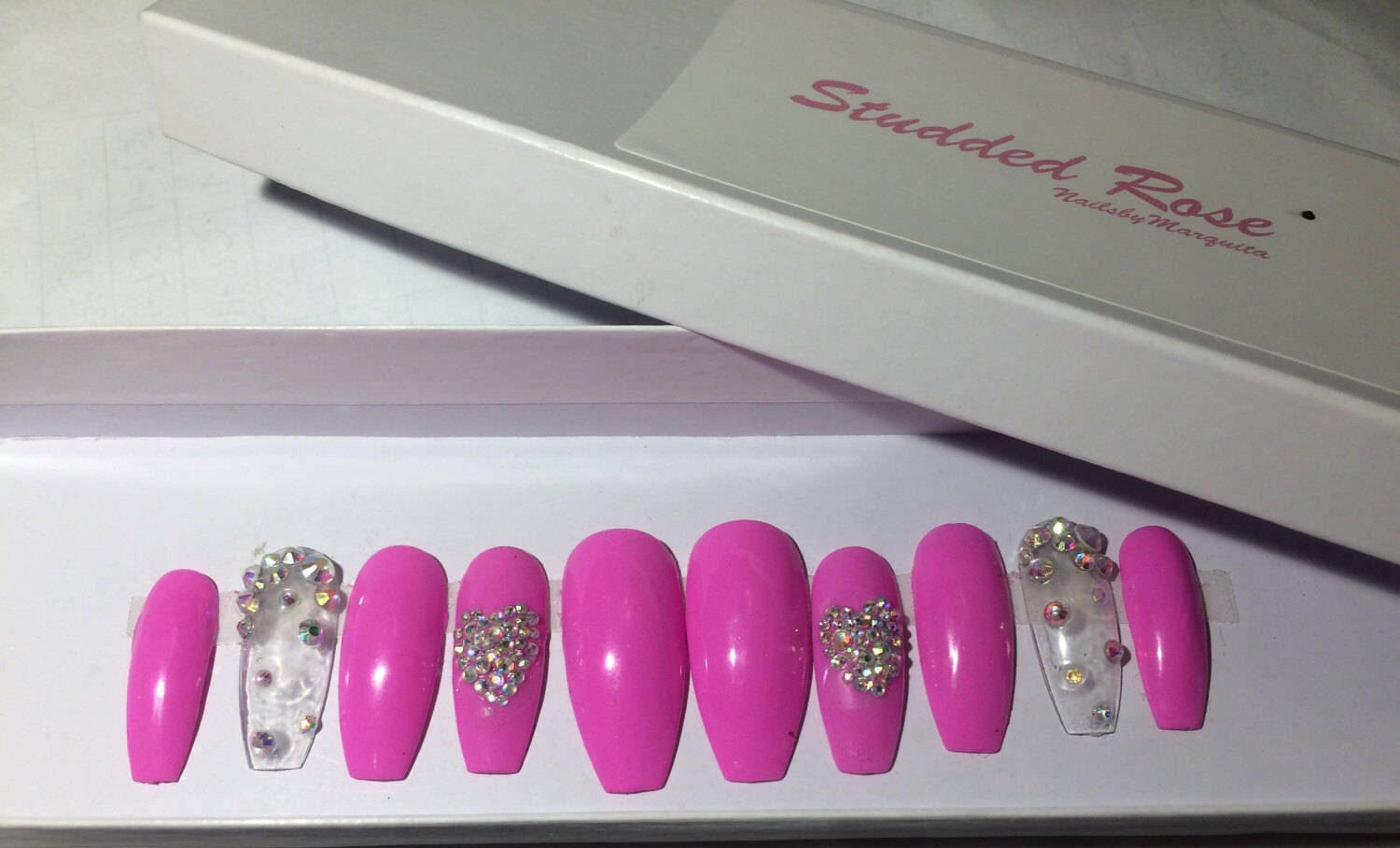 Belle Coffin Nails Custom Designer Press On Nails Any