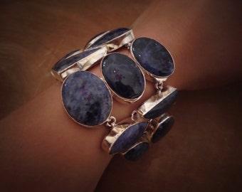 sodalite sterling silver bracelet.