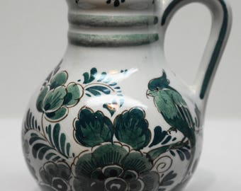 RARE DELFT GROEN (Green) Hand Painted Creamer, by Velson