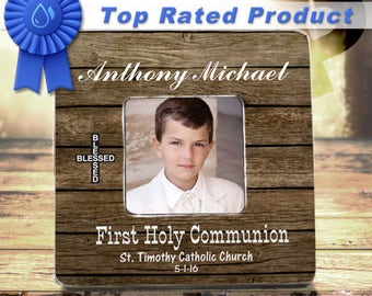 SALE First Communion Picture Frame First Communion Gift First Holy Communion Communion Gift First Communion Boy 1st Communion Custom Frame