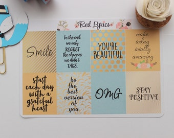 Quotes Full Boxes, ECLP, planner stickers