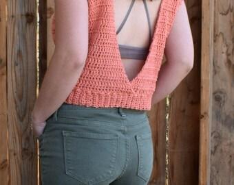 Crochet Top PATTERN - Crochet Summer Top - Crochet Shirt Pattern - Cotton Crochet Top - Easy Crochet Pattern