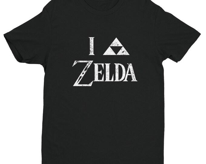 I Triforce Zelda Men's T-Shirt - White Faded | I Heart Zelda | Legend of Zelda | Link | Hyrule