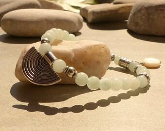 Bracelet in amazonite, boho chic bracelet, Crystal healing natural stone adornment bracelet amazonite jewelry Amazonite