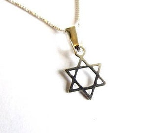 Star Of David Necklace Sterling Silver Dainty Light Pendant Kabbalah Jewellery  Design Handmade Free UK delivery + Gift Boxed D5