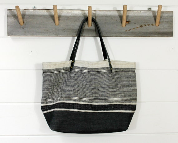 Handwoven Hemp Stripe Bag