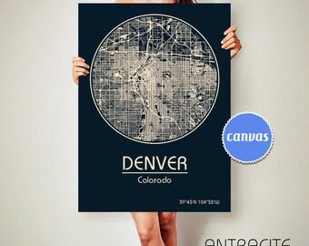 DENVER Colorado City Map Denver Colorado Art Print Denver Colorado poster Denver Colorado map art United States of America Poster