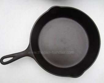 Vintage Wagner Ware Sidney -O- Cast Iron Skillet Pan Frying Fryer Number 8, pn 1058, 10-1/2 Diameter