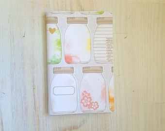 Large Notebook: Mason Jar, Wedding, Favor, Notebook, Unlined, Journal, For Her, For Him, Gift, Unique, Blank Journal, Unlined Journal L8-044