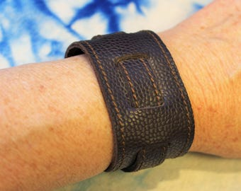 Brown leather strap. wrist strength; Bracelet of strength; Brown Leather Bracelet;  ET.119