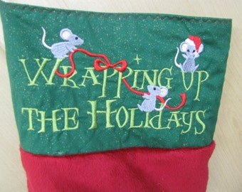 Elven Toe Wrapping Up the Holidays Christmas Stocking