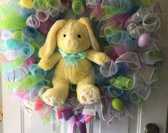 Adorable Easter/Spring Mesh Wreaths
