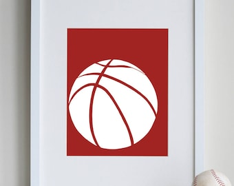 Basketball Room Decor, boys sports decor, sports gifts, cool sports art