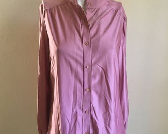 70s Vintage Ship n Shore  Deadstock Never Worn Mauve Pink  Tunic Top