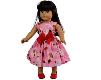 18 inc doll dress Made to fit all dolls like American Girl 18 inch doll clothes  Cupcake doll dress  Doll dress for 18 inch dolls