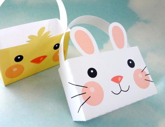 Printable easter bunny basket template choice image template items similar to easter bunny basket chick easter basket gift items similar to easter bunny basket negle Images