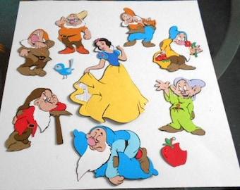 "Cricut Scrapbooking Die Cuts ""Snow White and the 7 Dwarfs"""