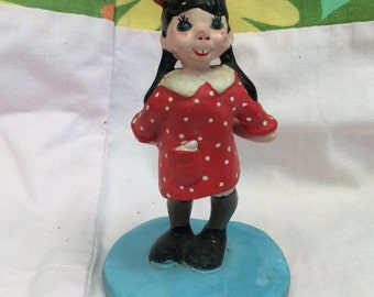 1958 'LULU' Napco Made in Japan figurine holding 'I Love You' heart