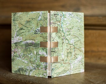 Map cover - notebook - real road map little A6 notebook
