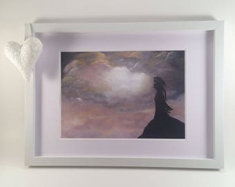 Wuthering Heights Print, Clouds Wall art,  Neutral Wall art, Clouds print, Fantasy Wall art, Emily Bronte Art, Spiritual Wall Art