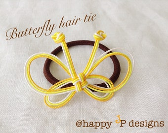 butterfly on your head! hair tie made of mizuhiki, japanese design