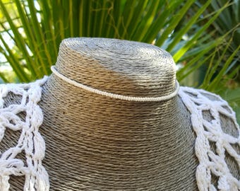 ras du cou blanc rocaille perle collier boho nautique croisière simple mariage de plage