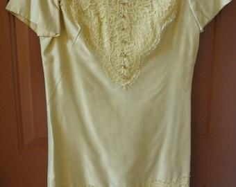 60s Silk  Shift Dress/ Silk and Lace 1960s Dress Henry Lee 1960s Dress Silk Vintage Dress