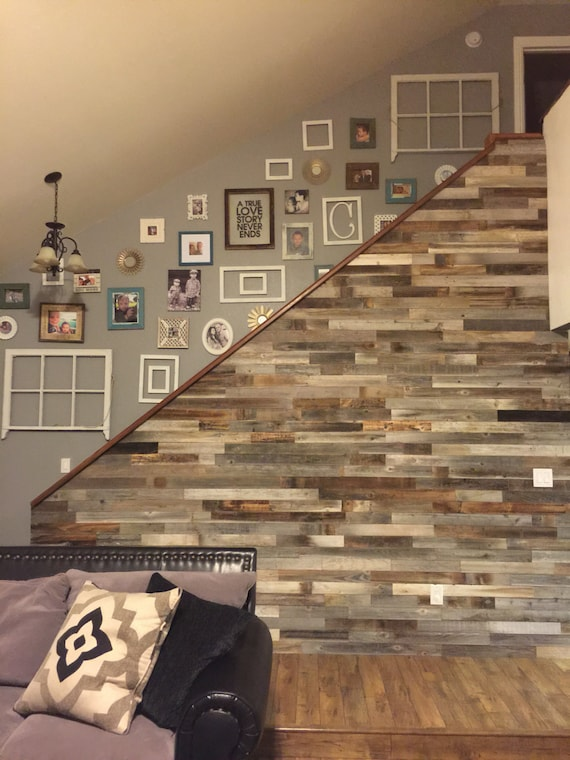 Reclaimed Wood Wall Paneling DIY asst 3-inch or 5-inch boards.