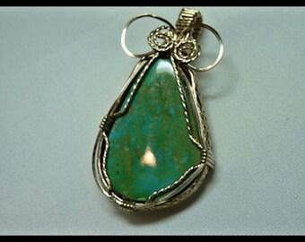 King's Manassa (CO) Turquoise Pendant  Item #1611